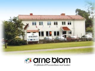 Arne Blom - en palett av möjligheter.