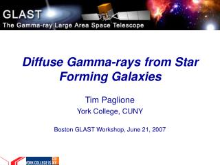 Diffuse Gamma-rays from Star Forming Galaxies