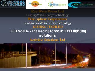 Eco Wave Power Ltd Leading Wave Energy technology Blue sphere Corporation