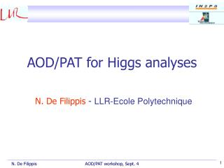 AOD/PAT for Higgs analyses