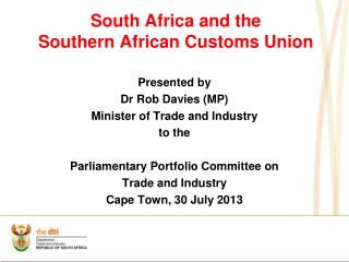 South Africa and the Southern African Customs Union