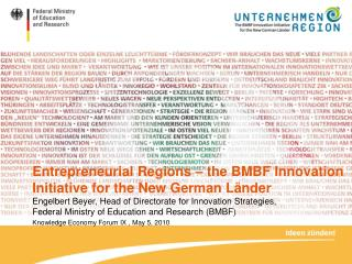 Entrepreneurial Regions – the BMBF Innovation Initiative for the New German Länder