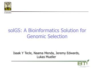 solGS: A Bioinformatics Solution for Genomic Selection