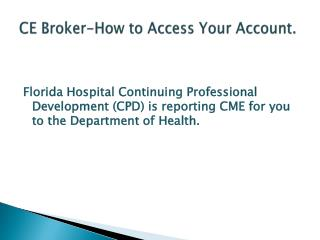 CE Broker-How to Access Your Account.