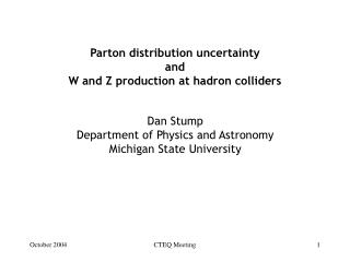 Parton distribution uncertainty and W and Z production at hadron colliders