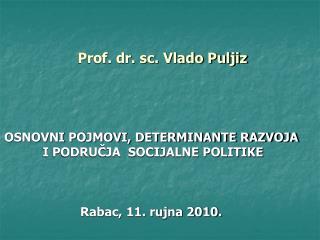 Prof. dr. sc. Vlado Puljiz