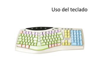 Uso del teclado