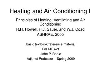 Heating and Air Conditioning I