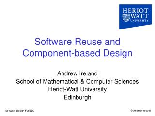 Software Reuse and  Component-based Design