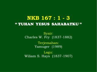 NKB 167  : 1 -  3