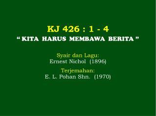 KJ  426  : 1 -  4