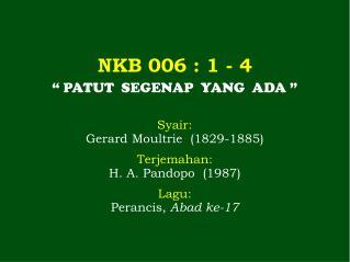 NKB 006  : 1 -  4