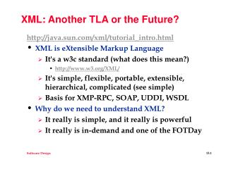 XML: Another TLA or the Future?