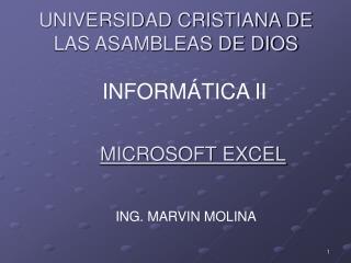 UNIVERSIDAD CRISTIANA DE LAS ASAMBLEAS DE DIOS