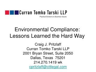 Environmental Compliance: