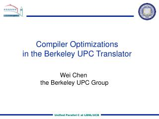 Compiler Optimizations in the Berkeley UPC Translator