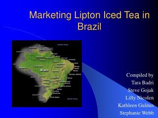 Marketing Lipton Iced Tea in Brazil