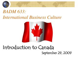 BADM 633: International Business Culture