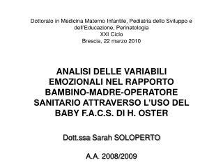Dott.ssa Sarah SOLOPERTO