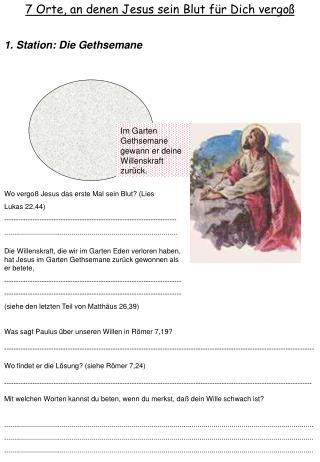 7 Orte, an denen Jesus sein Blut für Dich vergoß