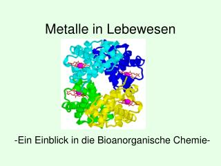 Metalle in Lebewesen