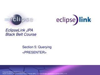 EclipseLink JPA Black Belt Course