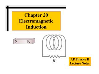 Chapter 20 Electromagnetic Induction