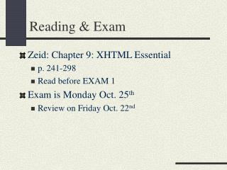 Reading & Exam