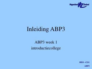 Inleiding ABP3