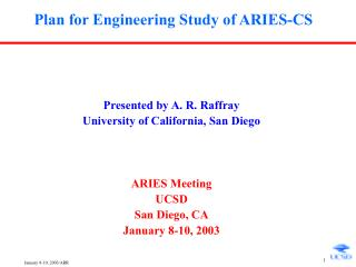 Plan for Engineering Study of ARIES-CS