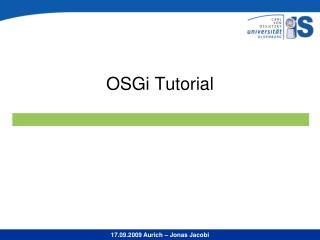 OSGi Tutorial