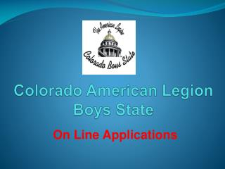 Colorado American Legion Boys State