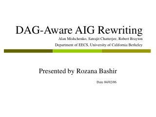Presented by Rozana Bashir Date 04/02/06