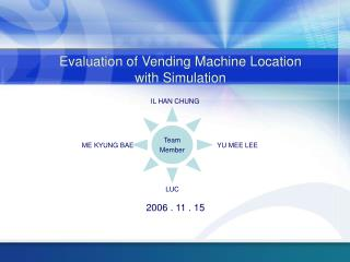 Evaluation of Vending Machine Location with Simulation