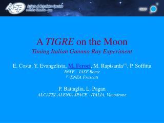 A  TIGRE  on the Moon  Timing Italian Gamma Ray Experiment