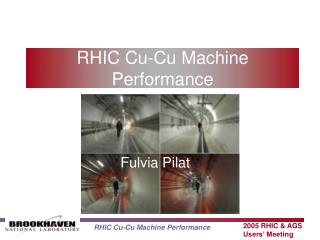 RHIC Cu-Cu Machine Performance
