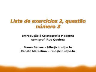 Lista de exercícios 2, questão número 3