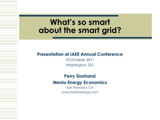 What's so smart about the smart grid?