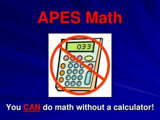 APES Math