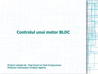 Controlul unui motor BLDC