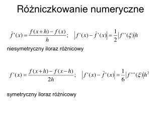 R óżniczkowanie numeryczne