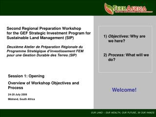 Second Regional Preparation Workshop