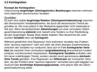 4.2 Kointegration