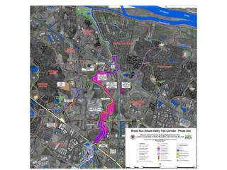 Broad Run Trail along  Kincora  Village Center and Broad Run Toll House