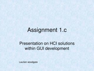 Assignment 1.c