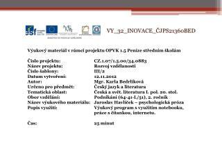 V Y_32_INOVACE_ ČJPS21360BED