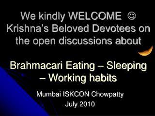 Mumbai ISKCON  Chowpatty July 2010