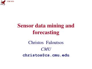 Sensor data mining and forecasting