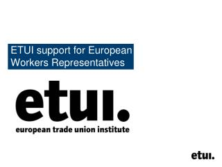 ETUI support for European  Workers Representatives