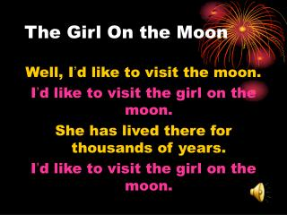 The Girl On the Moon